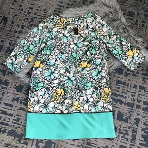 The Limited Floral 3/4 Sleeve Shift Dress NWT